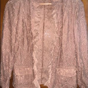 Chico's lace dress jacket coat size 0 Small